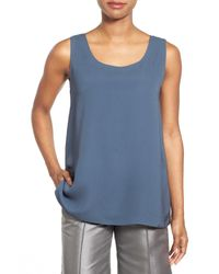 Lafayette 148 New York | Blue Davis Silk Tank Top | Lyst