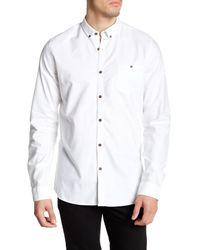 Civil Society | White Meyer Long Sleeve Elbow Patch Shirt for Men | Lyst