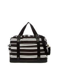 Madden Girl - Black Striped Weekend Bag - Lyst