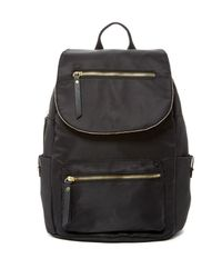 Madden Girl | Black Proper Nylon Flap Backpack | Lyst