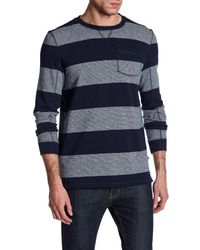 Indigo Star   Blue Coda Long Sleeve French Terry Stripe Sweater for Men   Lyst
