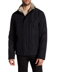 Andrew Marc | Black Syracuse Faux Fur Collar Jacket for Men | Lyst