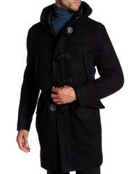 Andrew Marc | Black Weston Hooded Coat for Men | Lyst