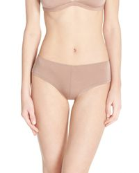 Olympia Theodora - Natural Stretch Modal Mini Boyshorts - Lyst