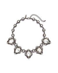 Tasha | Metallic Crystal Statement Necklace | Lyst