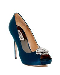 Badgley Mischka | Blue Jeannie D'orsay Pump | Lyst