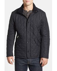 Barbour | Black 'chelsea' Regular Fit Quilted Jacket for Men | Lyst