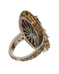 Stephen Dweck - Metallic Cognac Quartz & Citrine Ring - Size 7 - Lyst