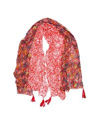 Michael Stars | Red Mixed Tiles Wrap | Lyst