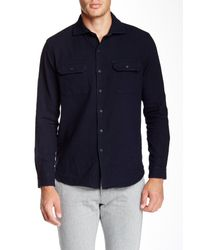 3x1 | Blue Split Collar Shirt for Men | Lyst