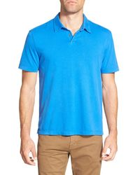 James Perse | Blue Jersey Short Sleeve Polo Shirt for Men | Lyst