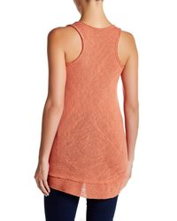 Bobeau | Orange V-neck Slub Swing Tank | Lyst