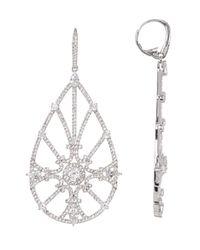 Nadri | Metallic Capri Cz Open Pave Large Drop Earrings | Lyst