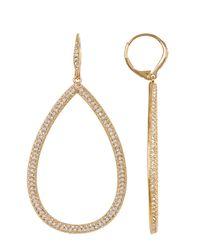Nadri - Metallic Large Open Crystal Pave Teardrop Earrings - Lyst