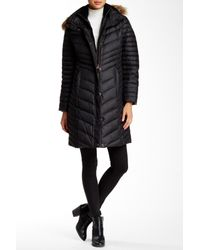 Marc New York | Black Kendell Genuine Coyote Fur Trimmed Quilted Jacket | Lyst