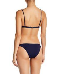 Melissa Odabash - Blue Solid Triangle Bikini Top - Lyst