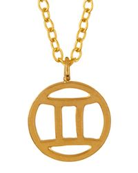 Kris Nations - Multicolor 14k Gold Plated Zodiac Circle Pendant Necklace - Lyst