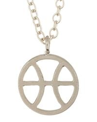Kris Nations - Multicolor Sterling Silver Plated Zodiac Circle Pendant Charm Necklace - Lyst