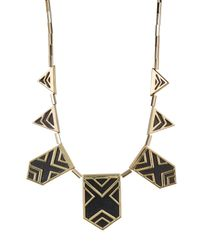 House of Harlow 1960 | Black Classic Caged Station Necklace | Lyst