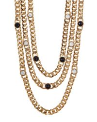 House of Harlow 1960 - White Multi-layer Beaded Rolo Chain Necklace - Lyst