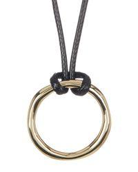 Karen Kane | Metallic All Or Nothing Organic Ring Pendant Necklace | Lyst