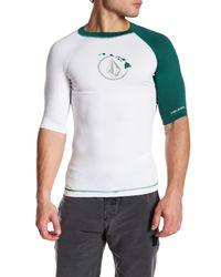 Volcom   White Hi Colorblock Short Sleeve Rashguard for Men   Lyst