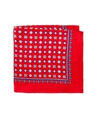 Burma Bibas - Red Neat Silk Pocket Square for Men - Lyst