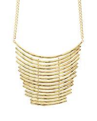 Sparkling Sage - Metallic Chain Link Metal Choker Necklace - Lyst