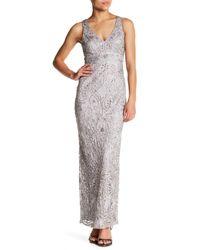 Sue Wong | Multicolor Beaded Long Dress | Lyst