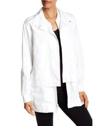 DKNY | White Layered Double Front Jacket | Lyst