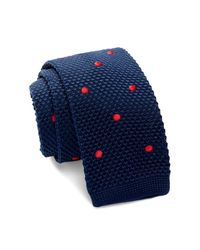 Burma Bibas - Blue Dot Knit Tie for Men - Lyst