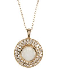 Melinda Maria | Metallic Jade Cz & Moonstone Necklace | Lyst