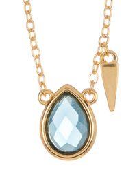 Melinda Maria | Metallic Jacob London Blue Topaz Pendant Necklace | Lyst