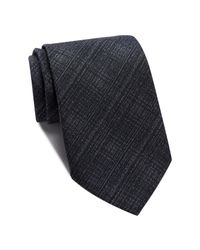 John Varvatos | Black Crosshatch Tie for Men | Lyst