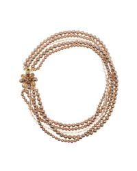 Carolee - Multicolor Multi-strand Simulated Pearl Flower Necklace - Lyst