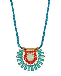 Carolee | Multicolor Nassau Nights Pave Stone Baquette Necklace | Lyst