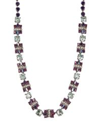 Sorrelli | White Geometric Crystal Sectioned Necklace | Lyst