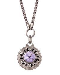 Sorrelli   Metallic Intricate Crystal Medallion Pendant   Lyst