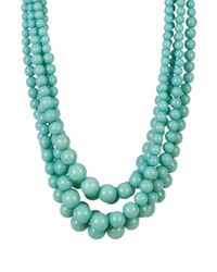 Cara - Green Multi-strand Turquoise Beaded Necklace - Lyst