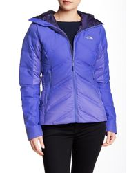 08a302f86 Lyst - The North Face Fuseform Dot Matrix Hooded Down Jacket in Blue