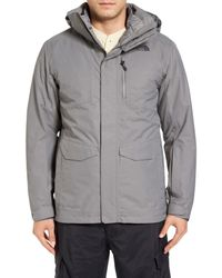 The North Face | Gray Thermoball Triclimate 3-in-1 Waterproof Snow Jacket for Men | Lyst