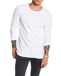 NANA JUDY | White Basic Long Sleeve Knit Tee for Men | Lyst