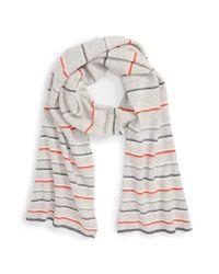 Halogen | Gray Wool & Cashmere Scarf | Lyst