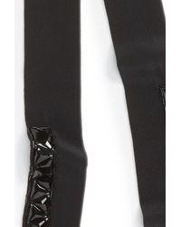 Halogen - Black Embellished Skinny Scarf - Lyst