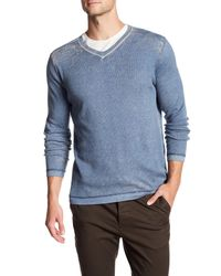 Autumn Cashmere | Blue Printed V-neck Shirt for Men | Lyst