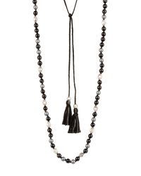 Chan Luu | Multicolor Sterling Silver Tassel & Beaded Necklace | Lyst