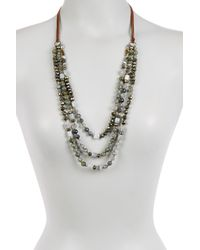 Chan Luu - Metallic Sterling Silver Labradorite, Pyrite, Agate & Grey Cloudy Quartz Necklace - Lyst