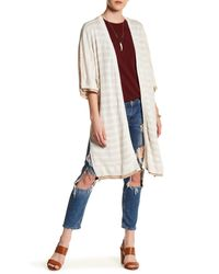 Three Dots | Multicolor Fiona Reversible Linen Cardigan | Lyst