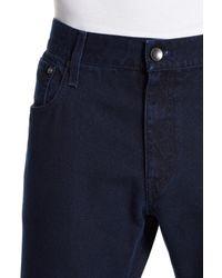 Giorgio Armani - Blue Topstitch Denim Trouser for Men - Lyst