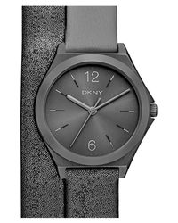 DKNY | Black Women's Parsons Strap Watch | Lyst